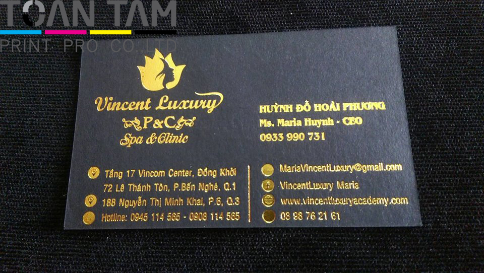 mau in name card spa vincent luxury