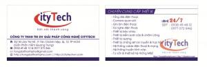 Mẫu Thiết Kế Name Card Công ty ityTech
