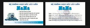 Mẫu Thiết Kế Name Card Hệ Thống Giặt Sấy Khô NaNa