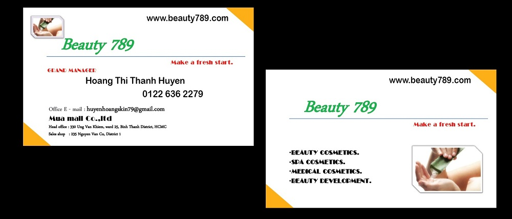 Mẫu Thiết Kế Name Beauty 789