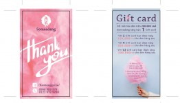 Mẫu thiết kế gift card đep