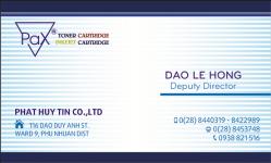 Mẫu thiết kế Name Card Công Ty Mực In Tân Phát Huy