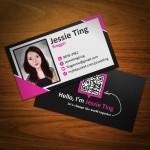Mẫu Thiết Kế Name Card Cá Nhân Jessie Ting