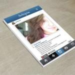 Mẫu thiết kế name card độc đáo instagram