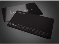 Mẫu Thiết Kế Name Card Đen Phong Cách