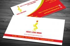 Mẫu Thiết Kế Name Card Ngọc Long Minh