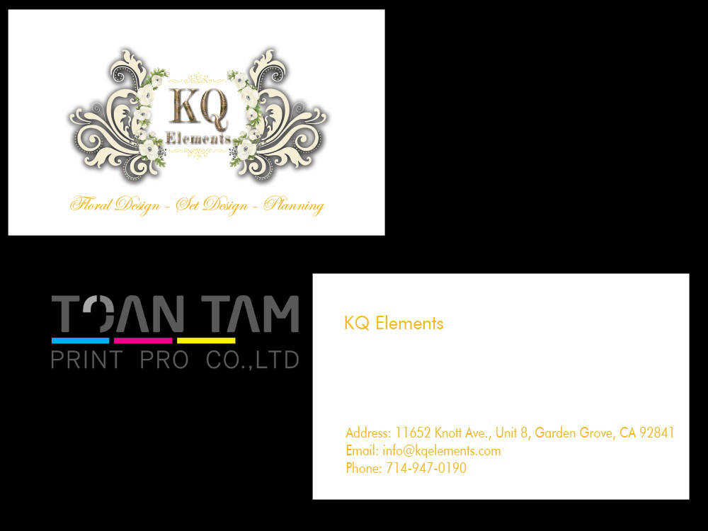 Mẫu Thiết Kế Name Card KQ Elements
