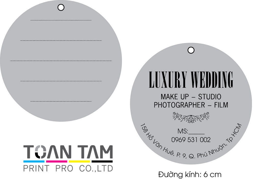 Mẫu Thiết Kế Name Card LUXURY WEDDING