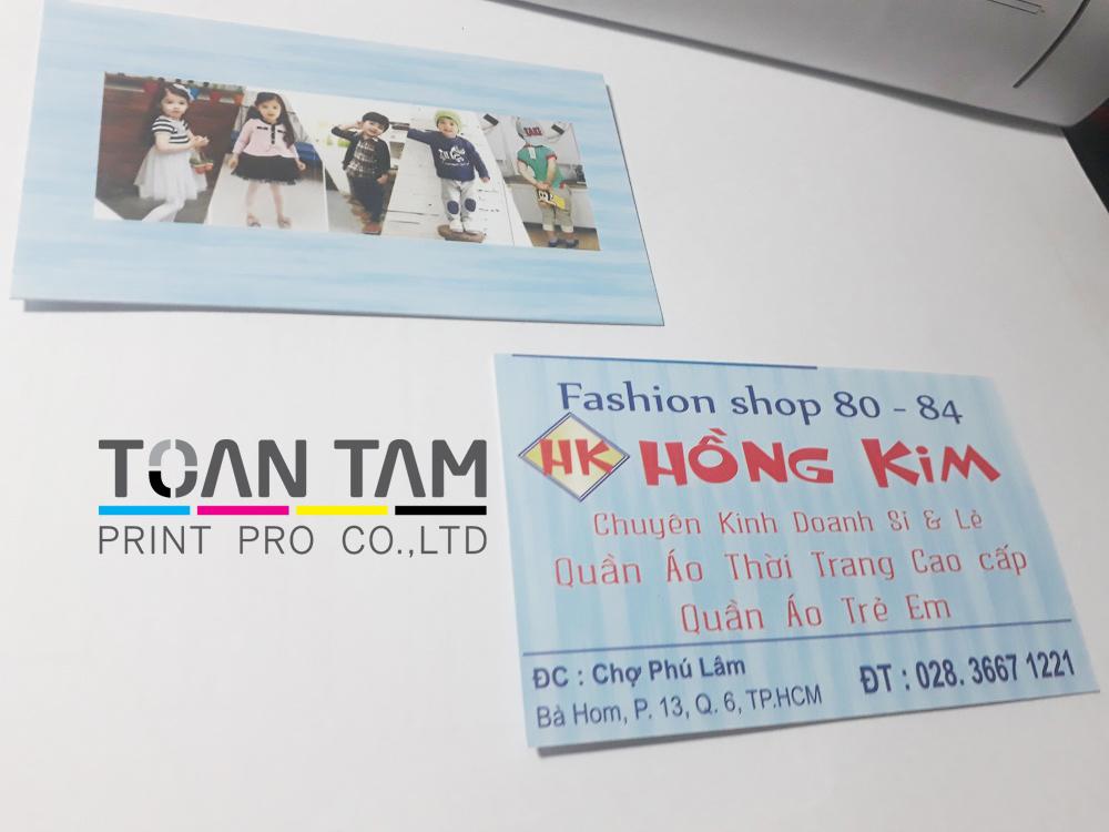 Mẫu Thiết Kế Card Shop Quần Áo Hồng Kim
