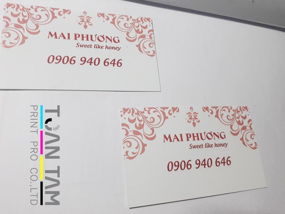 Mẫu Thiết Kế Name Card Mai Phương