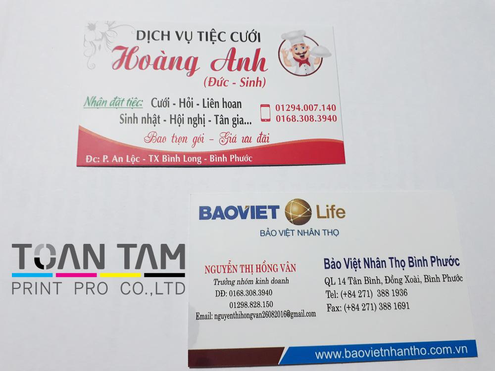 Mẫu Thiết Kế Name Card 2 Mặt 2 Dịch Vụ