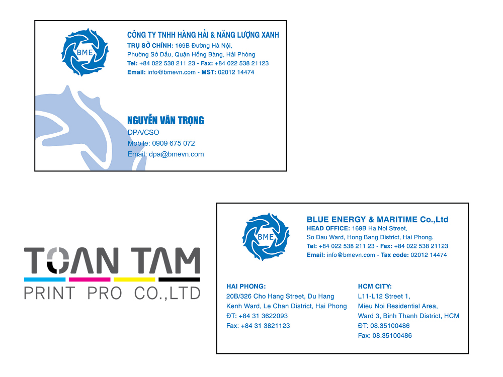 Mẫu Thiết Kế Name Card BME