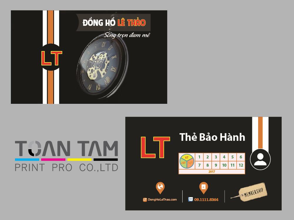 Mẫu Thiết Kế Name Card Lê Thảo