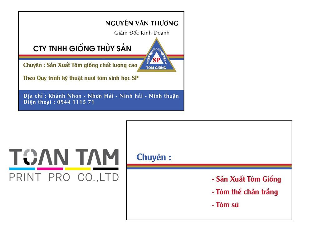 Mẫu Thiết Kế Name Card Thủy Sản SP