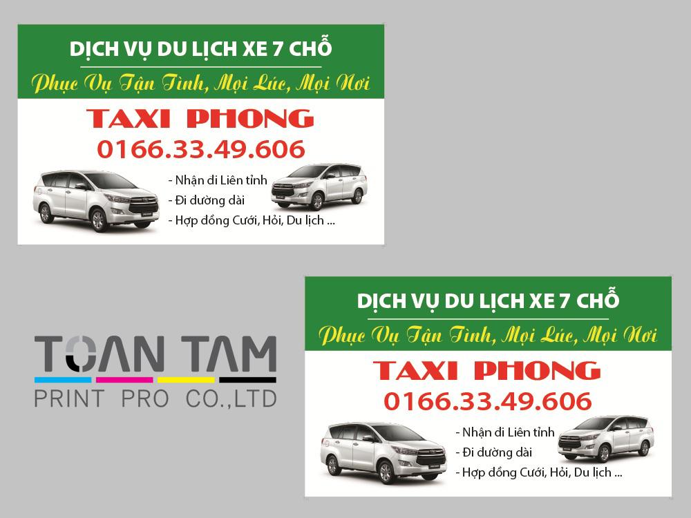 Mẫu Thiết Kế Name Card Taxi Phong