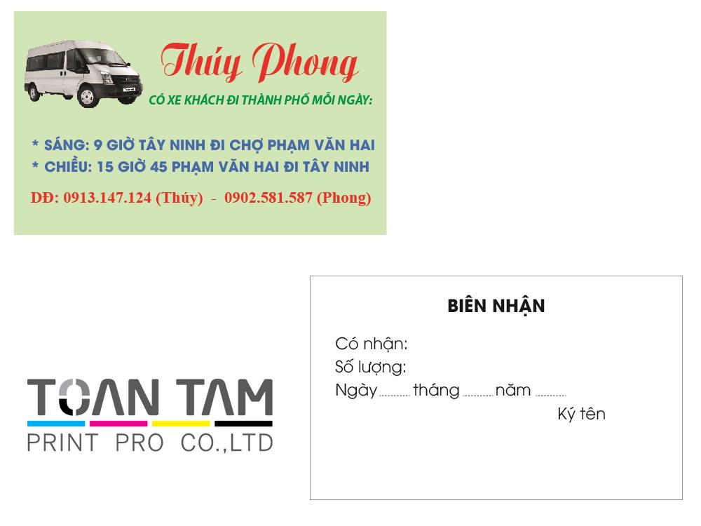 Mẫu Thiết Kế Name Card Thúy Phong