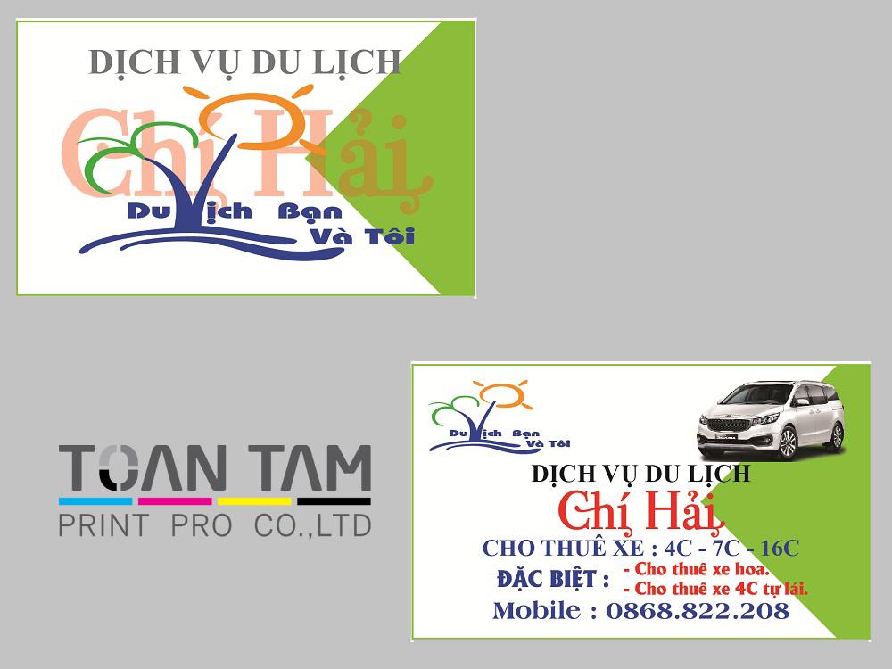 Mẫu Thiết Kế Name Card Du Lịch Chí Hải