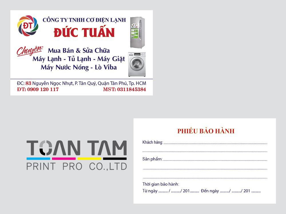 Mẫu Thiết Kế Name Card Đức Tuấn