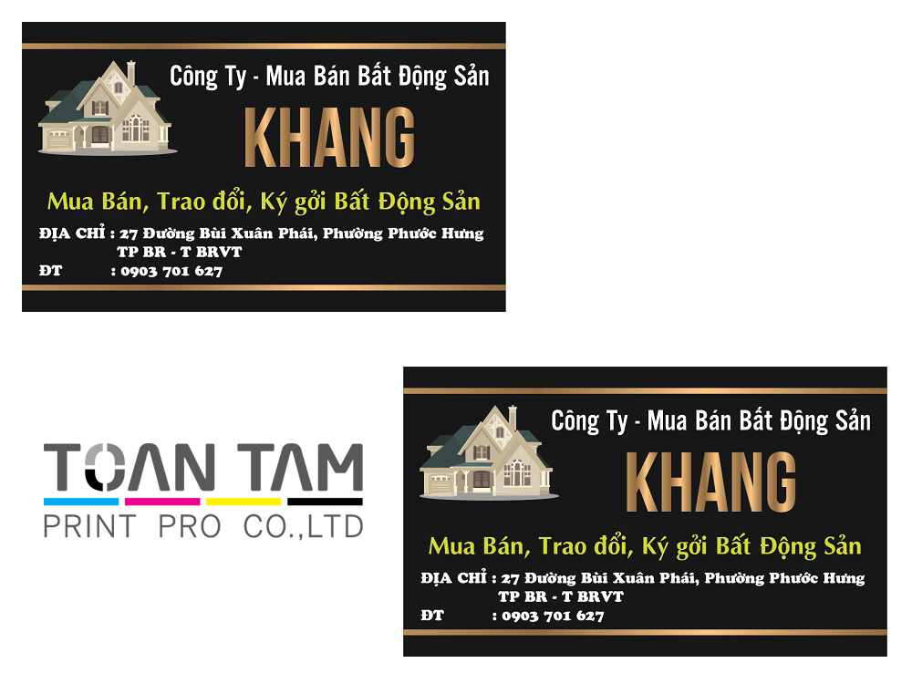 Mẫu Thiết Kế Name Card Khang