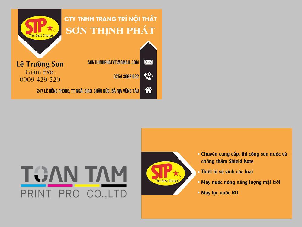 Mẫu Thiết Kế Name Card STP