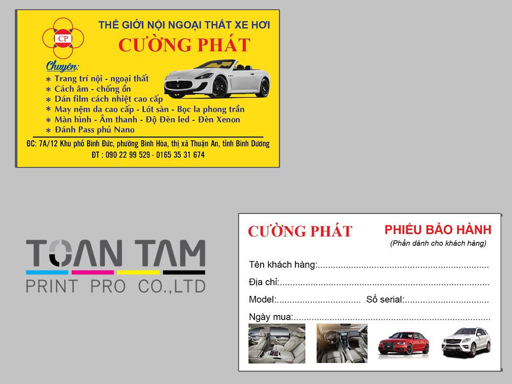 Mẫu Thiết Kế Name Card Cường Phát