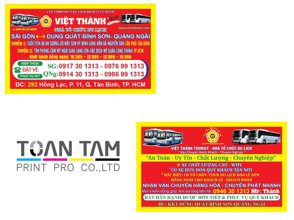 Mẫu Thiết Kế Name Card Việt Thành