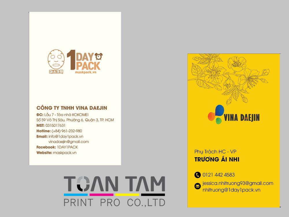 Mẫu Thiết Kế Name Card Vina Daejin
