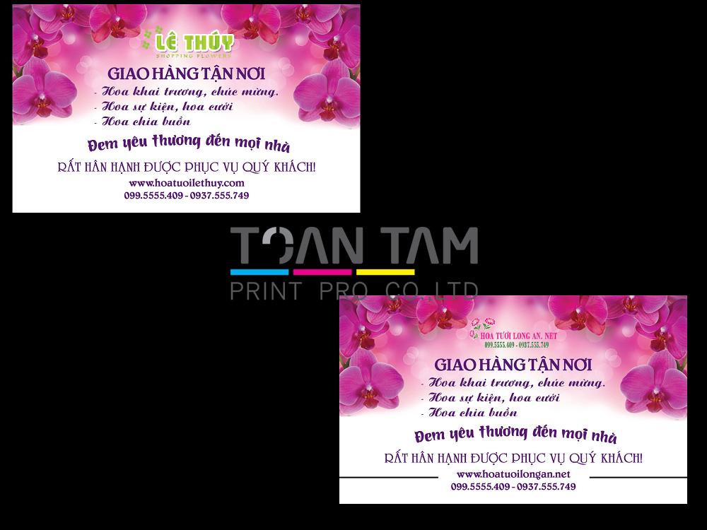 Mẫu Thiết Kế Name Card Lê Thúy