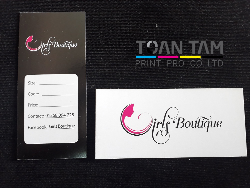 Mẫu Thiết Kế Name Card Girl Boutique