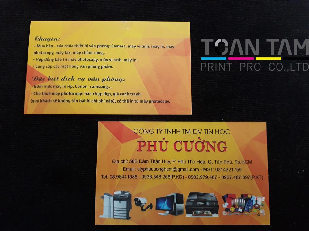 Mẫu Thiết Kế Name Card DV Tin Học Phú Cường