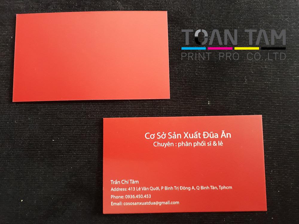 Mẫu Thiết Kế Name Card Cơ Sở SX Đũa Ăn