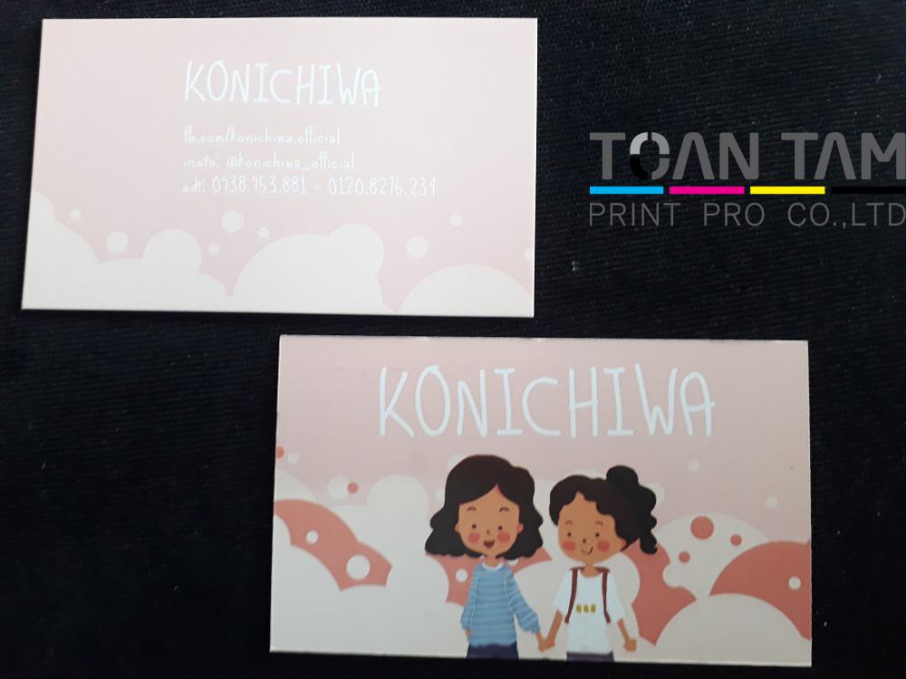 Mẫu Thiết Kế Name Card Shop KONICHIWA