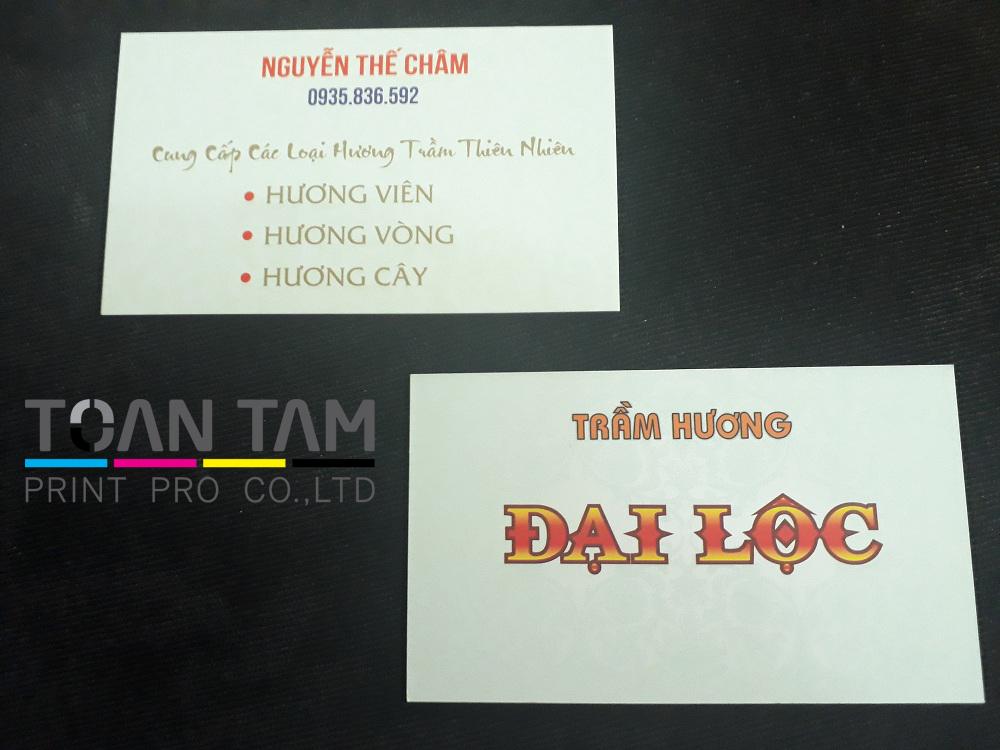 Mẫu Thiết Kế Name Card Trầm Hương Đại Lộc