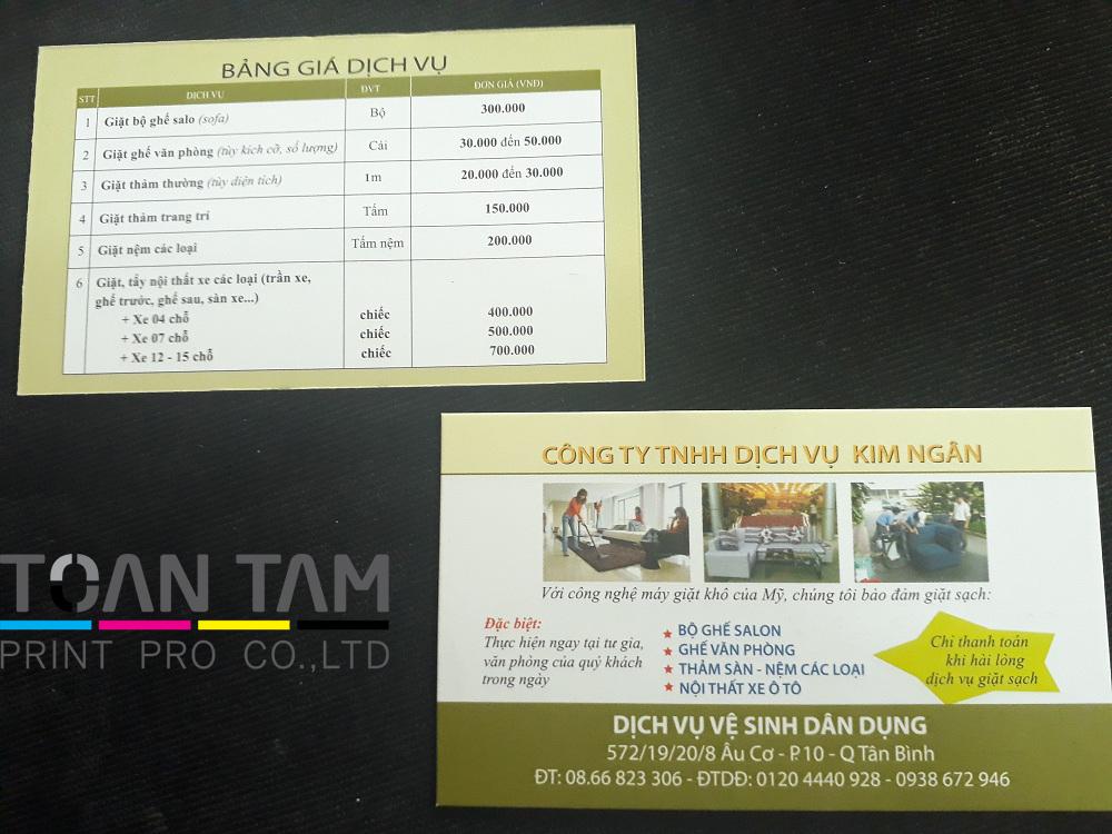 Mẫu Thiết Kế Name Card Công Ty Kim Ngân