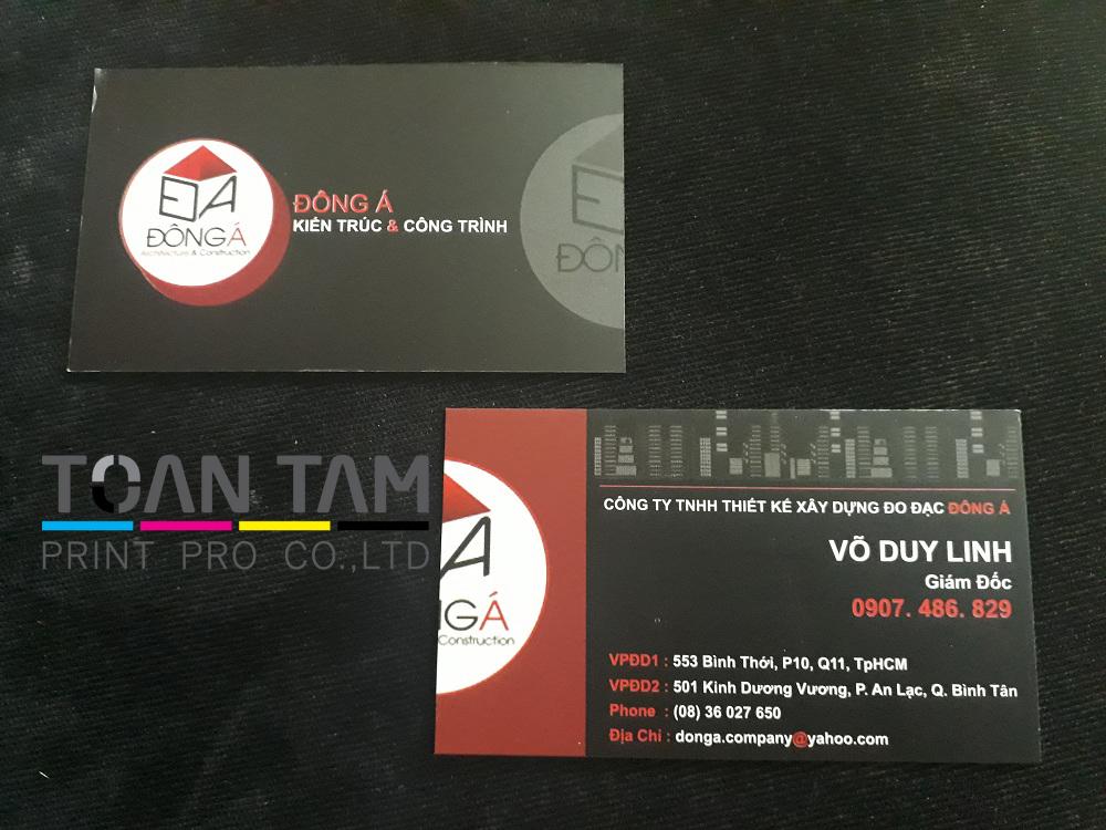 Mẫu Thiết Kế Name Card Công Ty Đông Á