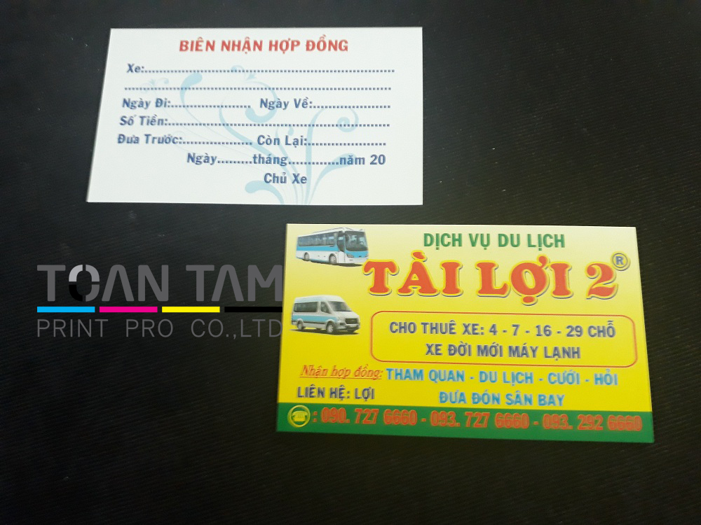 Mẫu Thiết Kế Name Card Xe Du Lịch Tài Lợi 2