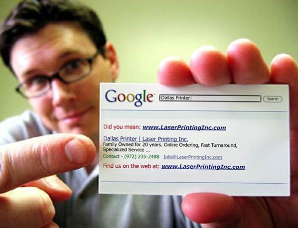 mau thiet ke name card sang tao google