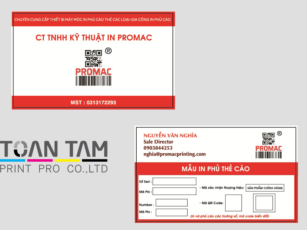 mau thiet ke name card promac