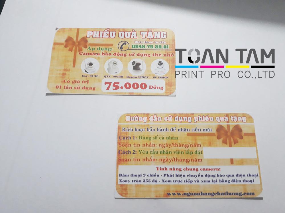 mau thiet ke name card phieu qua tang