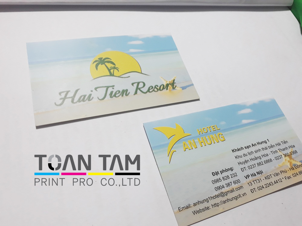 mau thiet ke name card hai tien resort