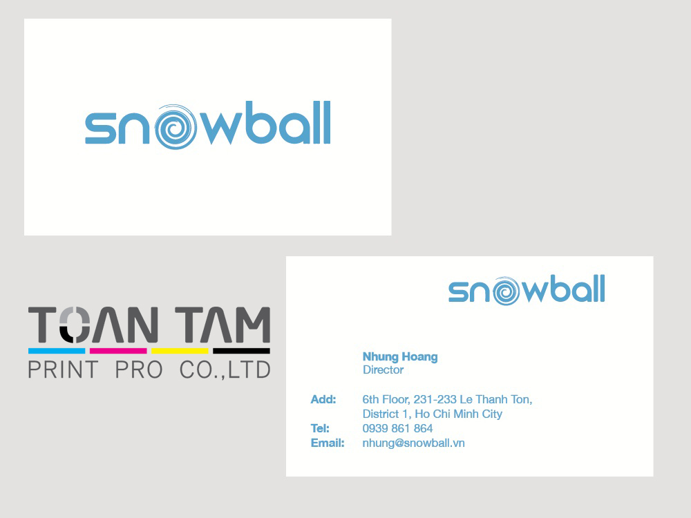 mau thiet ke name card snowball