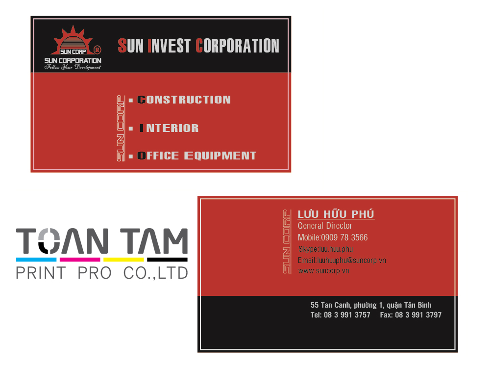 mau thiet ke name card sun corp