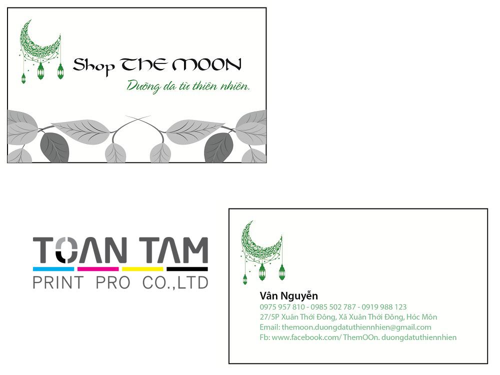 mau thiet ke name card shop the moon