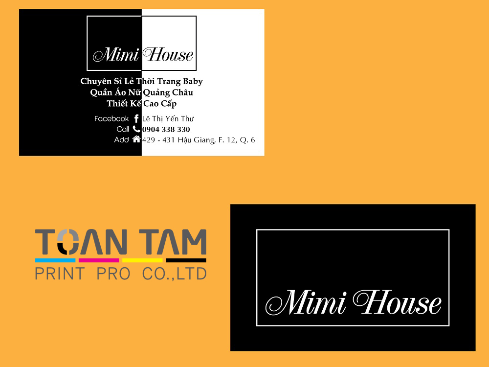 mau thiet ke name card mimi house