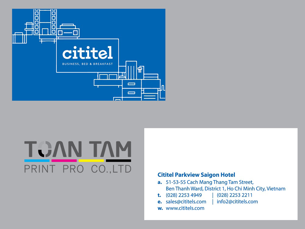 mau thiet ke name card cititel