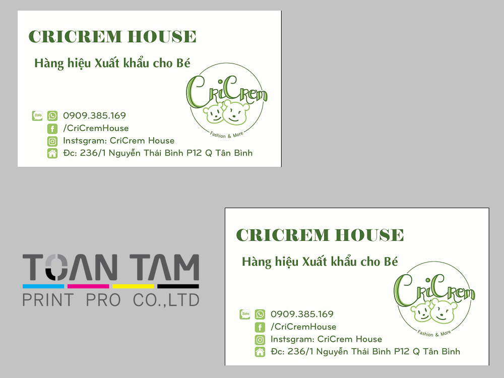 mau thiet ke name card cricrem house