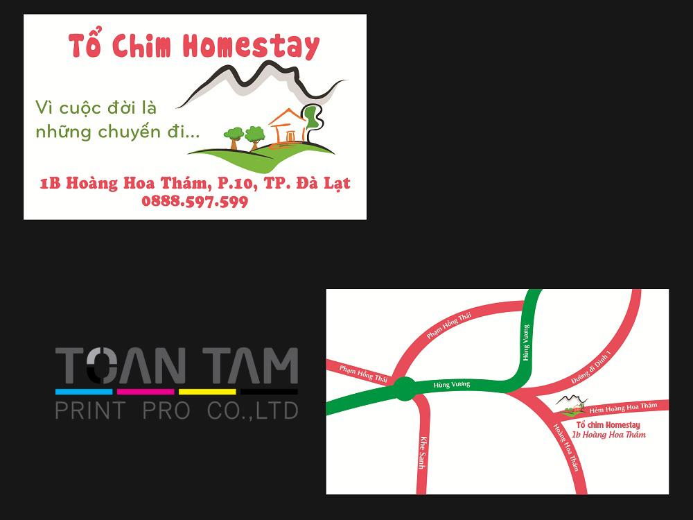 mau thiet ke name card to chim homestay