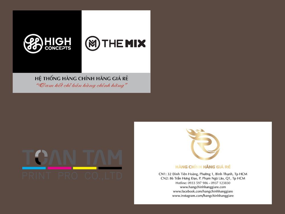 mau thiet ke name card hight concepts