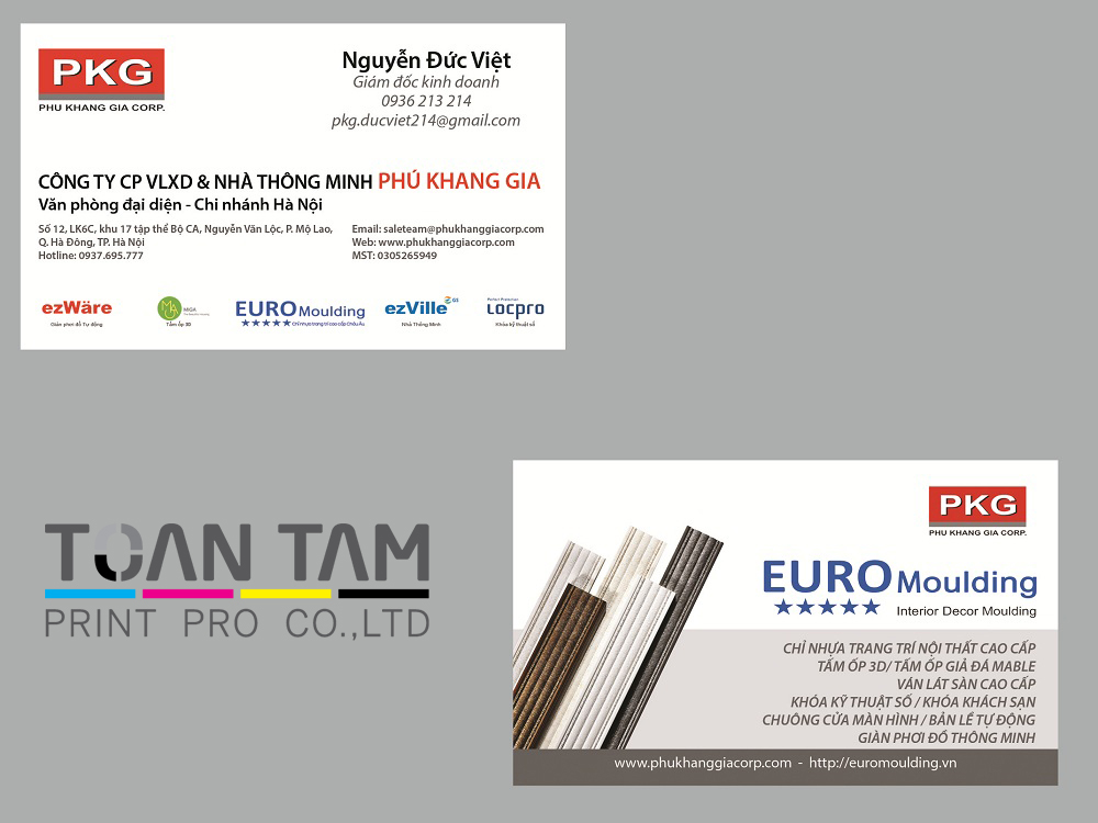 mau thietk e name card pkg
