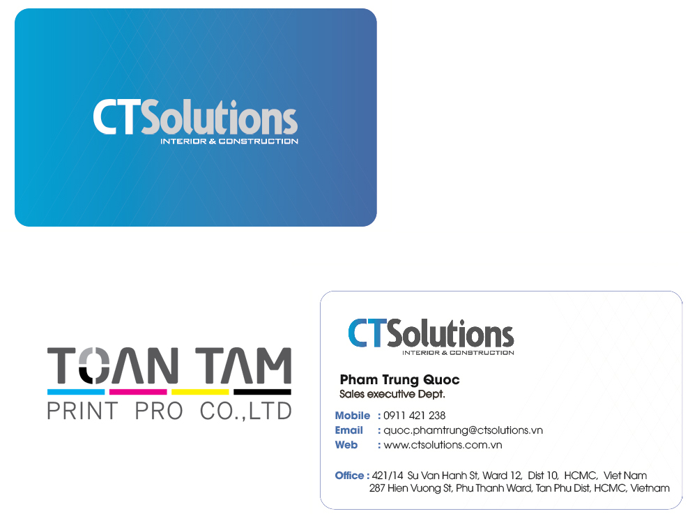 mau thiet ke name card ct solutions